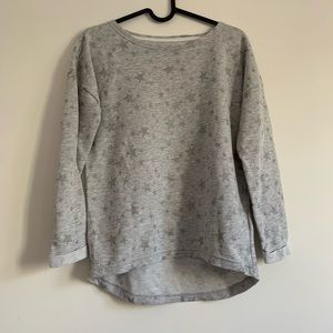 H&M Grey Star Sweatshirt